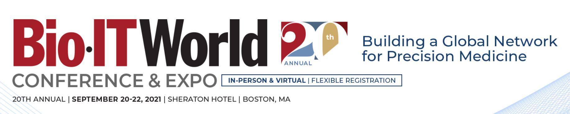 BioIT World 2021- September 20-22, 2021