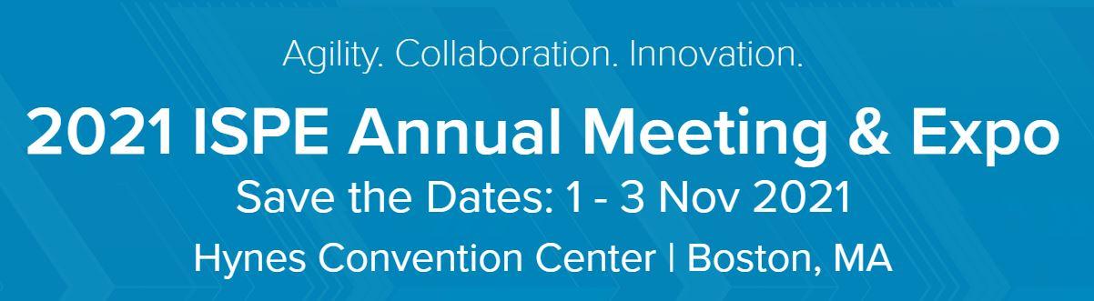 2021 ISPE Annual Meeting & Expo - November 1-3, 2021
